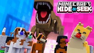 Minecraft MORPH HIDE N SEEK - DOGS AND DINOSAURS!