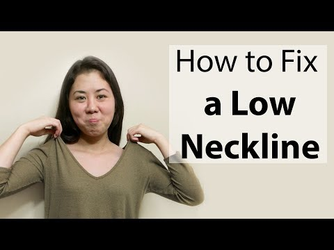 How to Fix a Low Neckline (V Neck) | Beginner Sewing Tutorial | DIY Tailoring