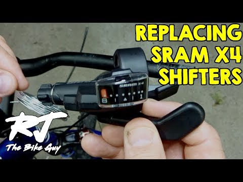 Replacing SRAM X4 Shifters & Cables On Cannondale F7 Mountain Bike