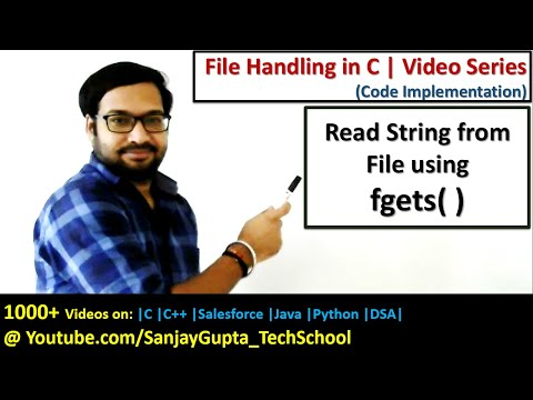 How to read strings from file using fgets( )  function in c programming | by Sanjay Gupta