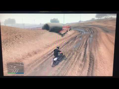 Riding my dirt bike for a hole gta day