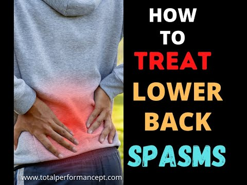 How to treat lower back spasms  | Total Performance Physical Therapy | 215.997.9898