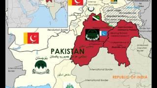 Map of Paritition of the Punjab (پنجاب - ਪੰਜਾਬ)
