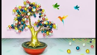 How to make tree with Pearl,Wire   how to make artificial bonsai tree at home   Pearl tree tutorial.