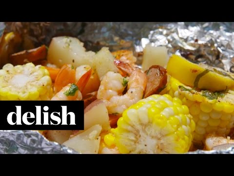 Shrimp Boil Foil Packs | Delish