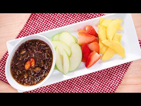 Sweet & Salty Fruit Dip (Nam Pla Waan) นำ้ปลาหวาน | Thai Recipes