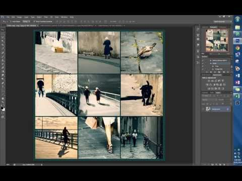 Creating an image grid in Photoshop