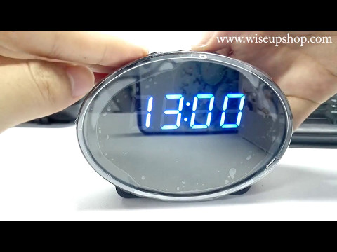 WISEUP WIFI Hidden Camera Clock Operation Instruction And Footage (Model Number: WIFI29)