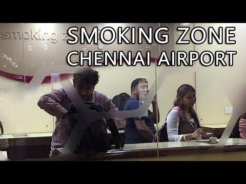 Smoking Zone:  The Smokers Heaven at Chennai Airport