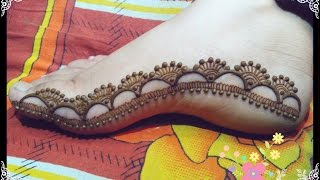 Eid special feet mehndi design tutorial.