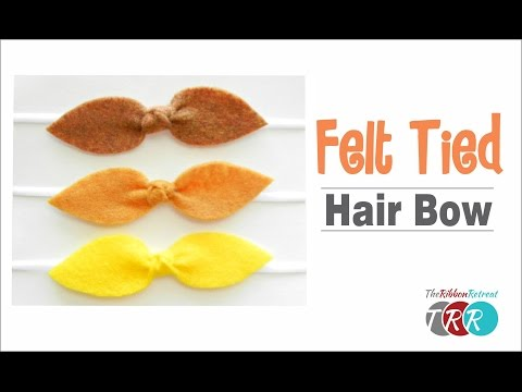 How to Make a Felt Tied Hair Bow - TheRibbonRetreat.com