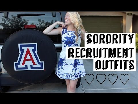 Sorority Recruitment Outfits ♡