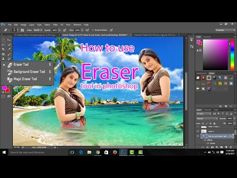 How to Use Eraser Tool in photoshop.