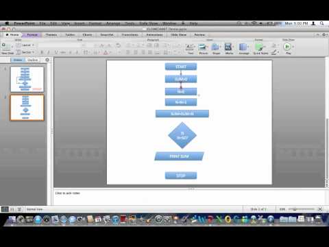 Creating FLOWCHART in Powerpoint 2011 MAC