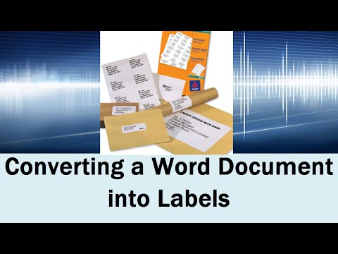 Converting a Document into Labels in Word 2013