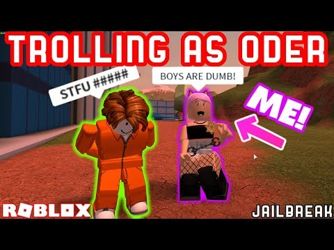 GIRL MAKES BOYS RAGE IN JAILBREAK!! - Roblox Jailbreak Trolling