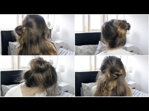 Three Easy Messy Quick Hairstyles