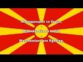 National Anthem of Macedonia (Macedonian/English)