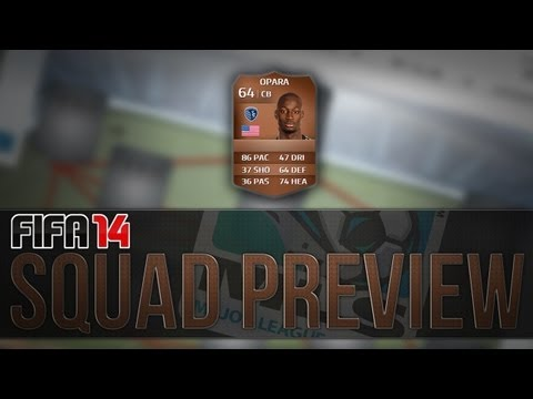 FIFA 14 Ultimate Team | Squad Preview! My Bronze MLS Team!