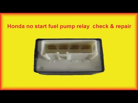 Honda Accord No Start  Fuel Pump Relay Repair