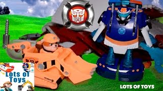 Transformer Rescue Bots, Paw Patrol Team up and Forest Rescue Compilation by Lots of Toys