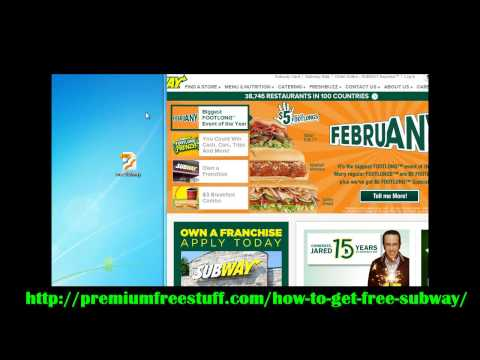 Free Subway 2013 Sandwiches & Cookies - How To Get Free Subway Method E-book!