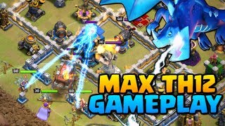 MAX TH12 GAMEPLAY - Clash of Clans Town Hall 12 Attacks | New CoC Troop Electro Dragon!