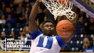 Zion Williamson puts on a dunk show in Duke win | CBB Highlights