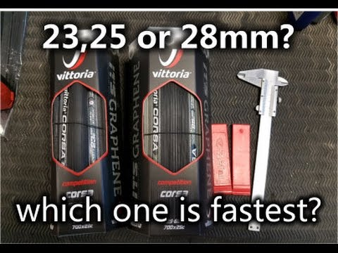 How to choose the correct tire size: 23,25 or 28mm?