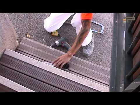 TBS Passage Anti-Slip Stair Nosing - installation