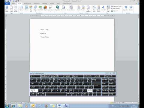 MS Word Lesson 2 Using the Keyboard.wmv