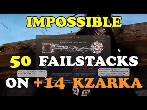 BDO | IMPOSSIBLE 50 FAILSTACKS on +14 Kzarka