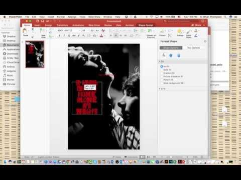 Using Powerpoint to Make a Poster