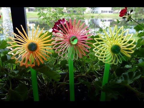 Recycled plastic drinking straws ideas