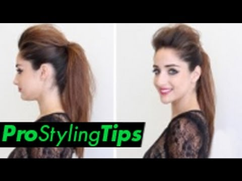 How to Style Runway Hair | Chic Ponytail ** 2 Looks In One **