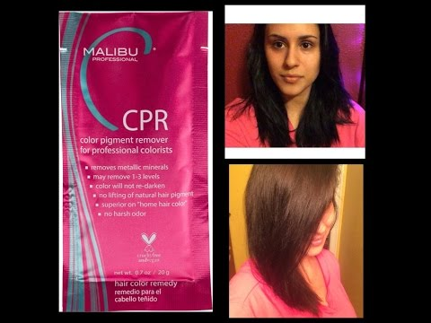 BLACK TO BROWN IN ONE DAY NO DAMAGE -  Malibu CPR
