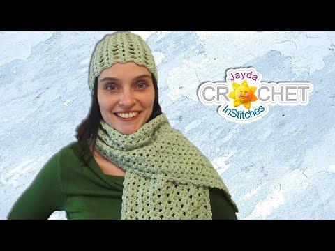 Easy Lacy Crochet Scarf - Split Shell Pattern