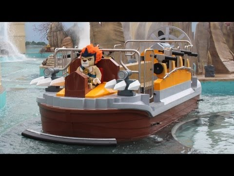 The Quest For CHI Water Ride at World of Chima, LEGOLAND Florida - FULL RIDE Multi-Angle POV