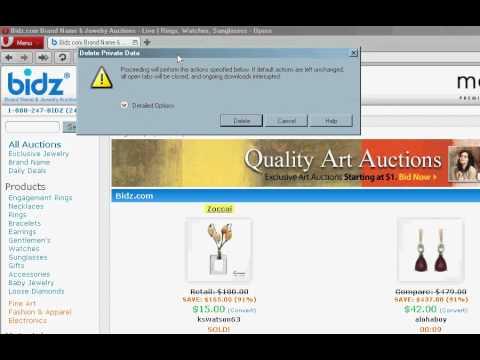 Delete cookies & temporary internet files in Opera