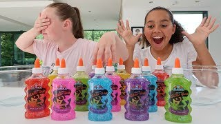 3 COLORS OF GLUE SLIME CHALLENGE!!
