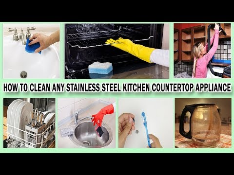 How to Clean Any Stainless Steel Kitchen Countertop Appliance | Recipe It