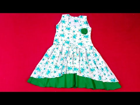 Double layer desiger frock cutting and stitching