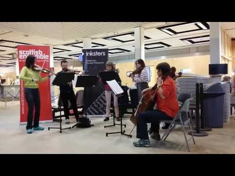 Scottish Ensemble pop-up concert at Sumburgh Airport