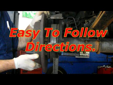 How To Replace Rear brakes And Rotors On A Ford F150