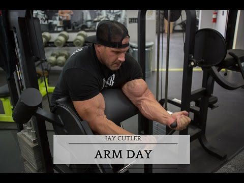 Jay Cutler Blasting Arms
