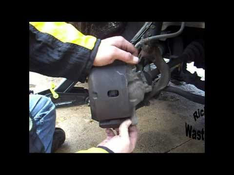 How to change the front brakes on a Honda Accord.