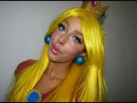Princess Peach Mario Halloween Makeup