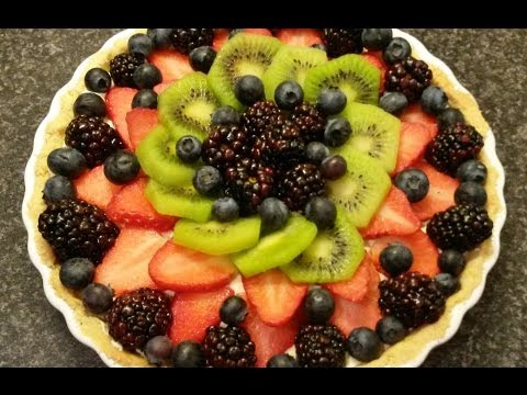 Simple Fruit Tart recipe tutorial - Easy custard filling - Delicious!