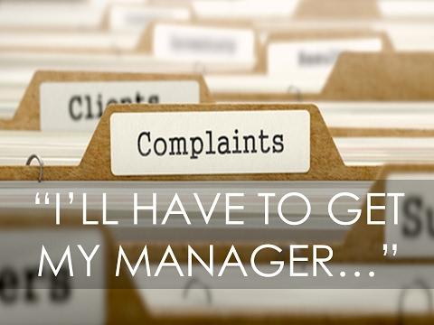 Complaint handling training