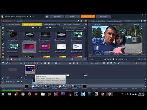 Pinnacle Studio 21 Ultimate -  Crear DVD / BluRay con Menu